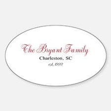 Personalizable Family Black Red Decal