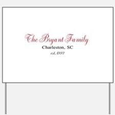 Personalizable Family Black Red Yard Sign