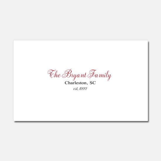 Personalizable Family Black Red Car Magnet 20 x 12