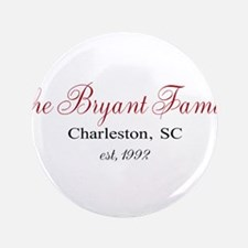 """Personalizable Family Black Red 3.5"""" Button (100 p"""