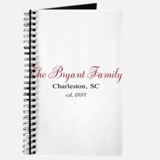 Personalizable Family Black Red Journal