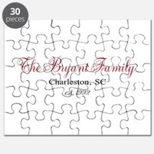 Personalizable Family Black Red Puzzle