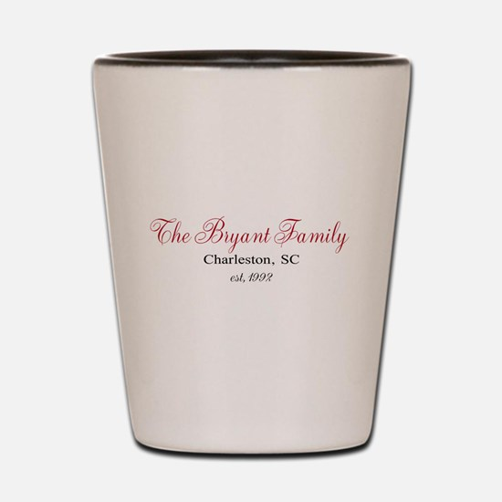 Personalizable Family Black Red Shot Glass