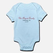 Personalizable Family Black Red Body Suit
