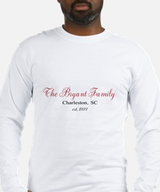 Personalizable Family Black Red Long Sleeve T-Shir