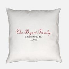 Personalizable Family Black Red Everyday Pillow