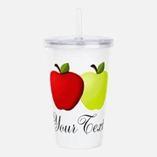 Personalizable Apples Acrylic Double-wall Tumbler