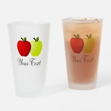 Personalizable Apples Drinking Glass