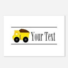 Personalizable Dump Truck Postcards (Package of 8)