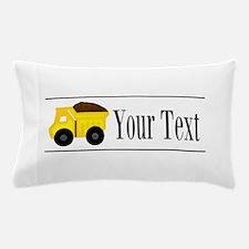 Personalizable Dump Truck Pillow Case
