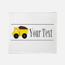 Personalizable Dump Truck Throw Blanket