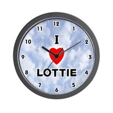 I Love Lottie (Black) Valentine Wall Clock