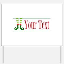 Personalizable Elf Feet Yard Sign
