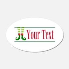Personalizable Elf Feet Wall Decal