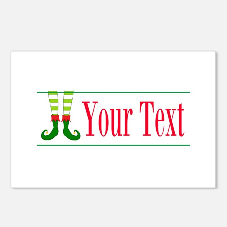 Personalizable Elf Feet Postcards (Package of 8)