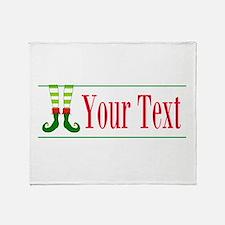 Personalizable Elf Feet Throw Blanket