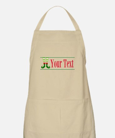 Personalizable Elf Feet Apron