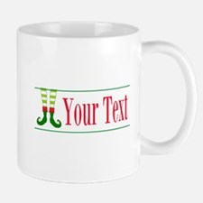 Personalizable Elf Feet Mugs