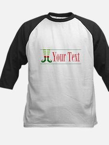 Personalizable Elf Feet Baseball Jersey