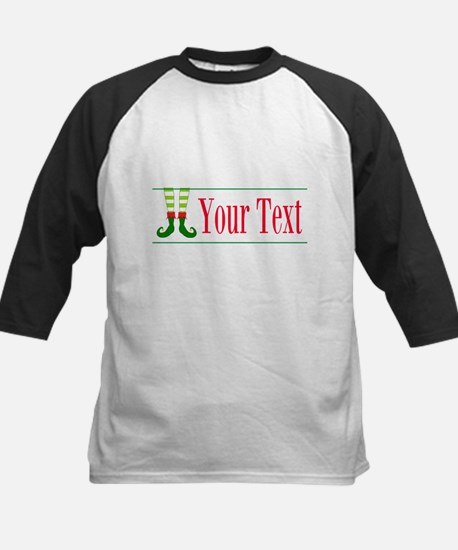 Personalizable Elf Feet Baseball Jersey