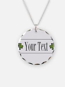 Personalizable Green Shamrock Necklace