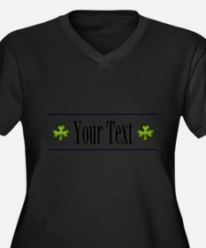 Personalizable Green Shamrock Plus Size T-Shirt