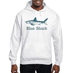 Vintage Blue Shark Hoodie