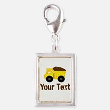 Personalizable Dump Truck Brown Charms