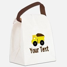 Personalizable Dump Truck Brown Canvas Lunch Bag
