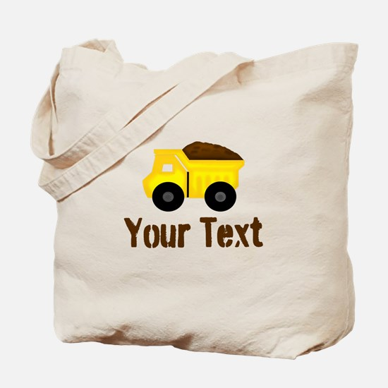 Personalizable Dump Truck Brown Tote Bag