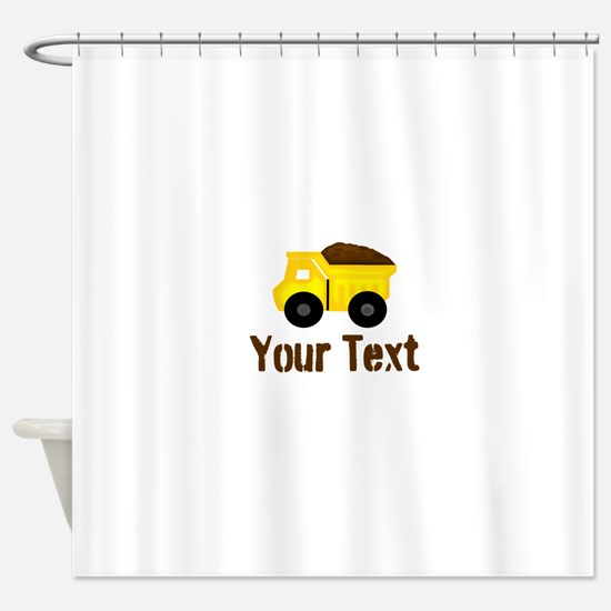 Personalizable Dump Truck Brown Shower Curtain