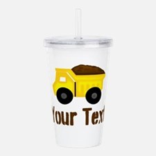 Personalizable Dump Truck Brown Acrylic Double-wal