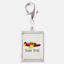 Personalizable Red and Yellow Airplane Charms