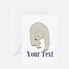 Personalizable Polar Bear Greeting Cards