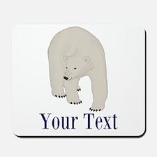 Personalizable Polar Bear Mousepad