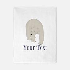 Personalizable Polar Bear Twin Duvet