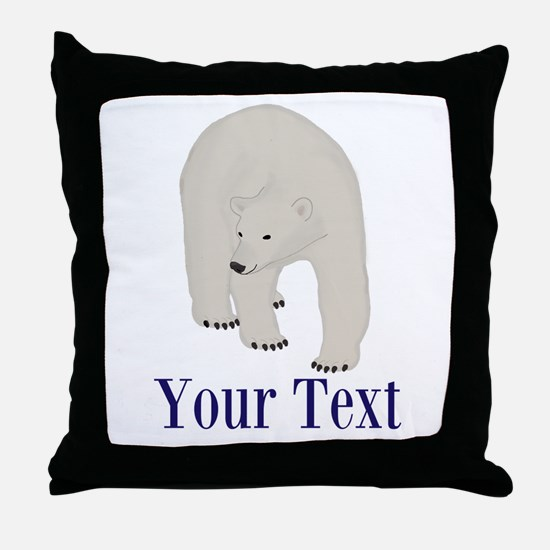 Personalizable Polar Bear Throw Pillow