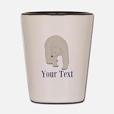 Personalizable Polar Bear Shot Glass