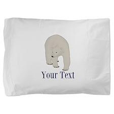 Personalizable Polar Bear Pillow Sham