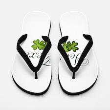 Personalizable Shamrocks Flip Flops