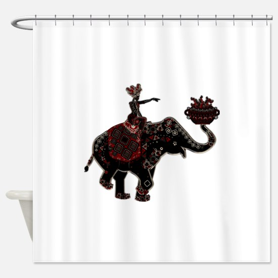 Metallic Trader on Elephant Back Shower Curtain