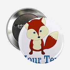 "Personalizable Red Fox 2.25"" Button"