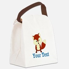 Personalizable Red Fox Canvas Lunch Bag