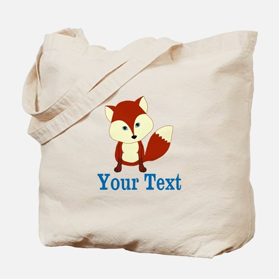 Personalizable Red Fox Tote Bag
