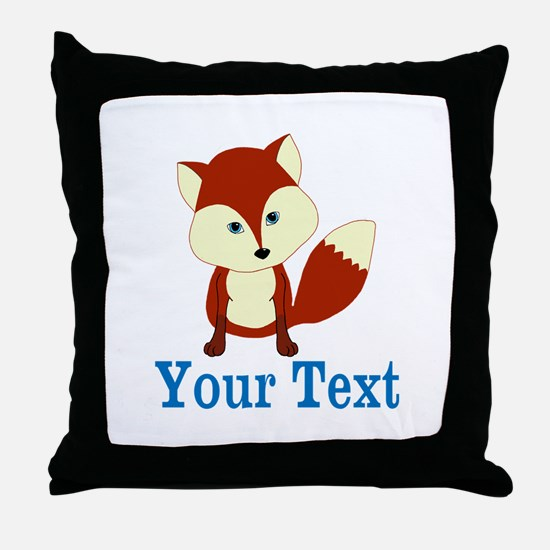 Personalizable Red Fox Throw Pillow