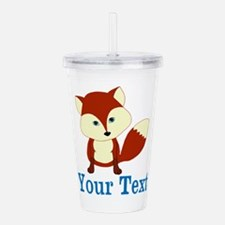 Personalizable Red Fox Acrylic Double-wall Tumbler