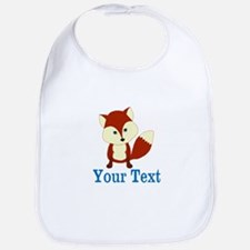 Personalizable Red Fox Baby Bib
