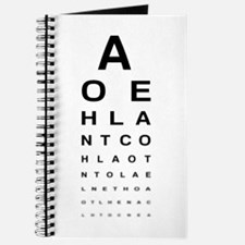 Snellen Eye Test Chart Journal