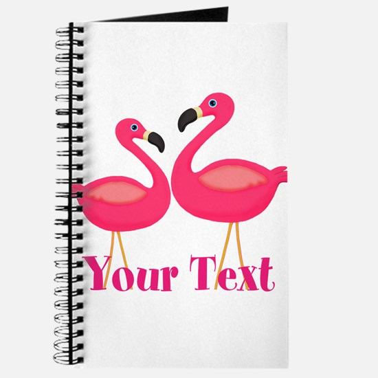 Personalizable Pink Flamingoes Journal