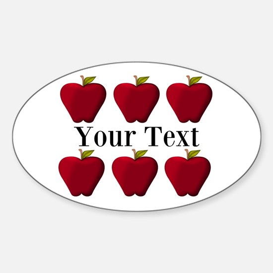 Personalizable Red Apples Decal